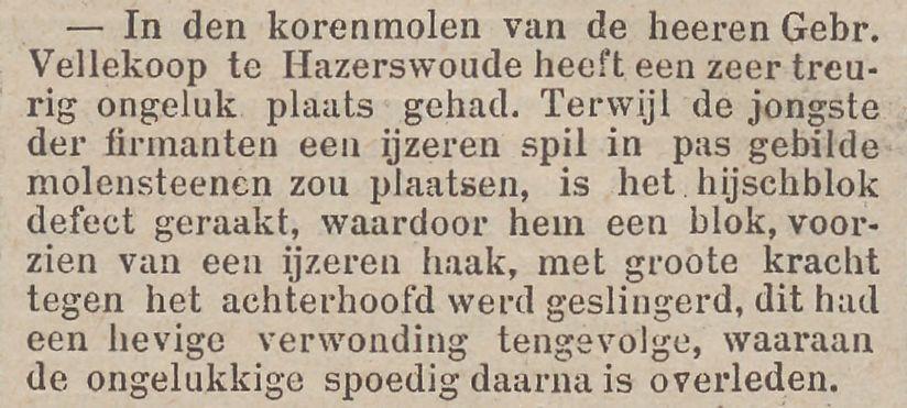 Krantenartikel Rotterdams Nieuwsblad, 20-12-1893 - Molen Nieuw Leven